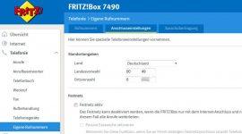 Grafische Benutzeroberfläche Fritzbox